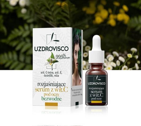 Rozjaśniające serum z witaminą C pod oczy - świetlik (15ml) serum bezwodne