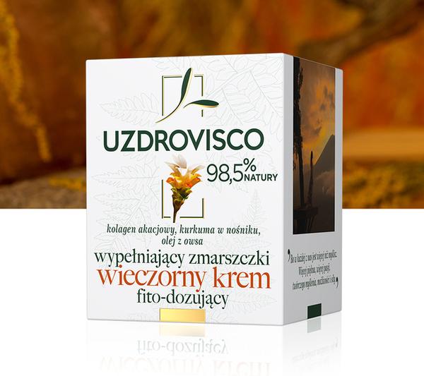 Wypełniający zmarszczki wieczorny krem fito-dozujący - kurkuma (50 ml) krem przeciwzmarszczkowy na noc
